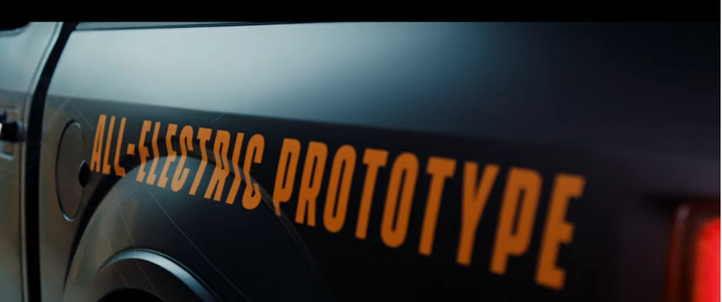 Ford F-150 Electric prototype teaser