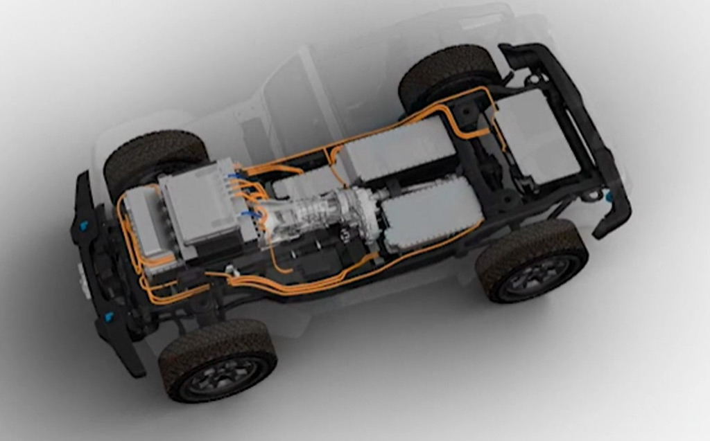 Teaser for battery-electric Jeep Wrangler concept