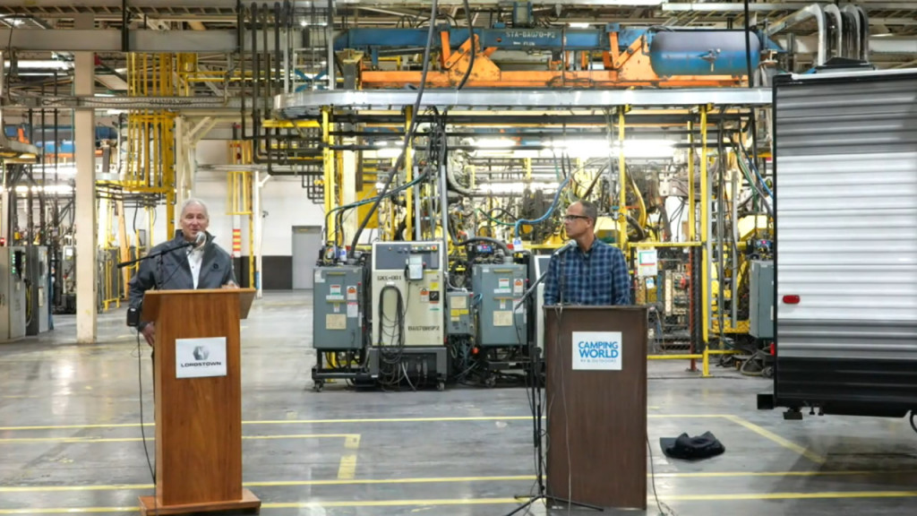 Press conference for electric RV - Lordstown Motors plant