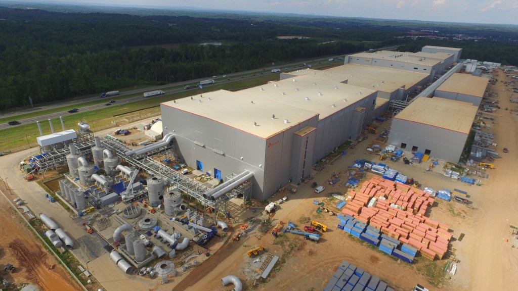 SK Innovation battery-factory construction in Commerce, Georgia