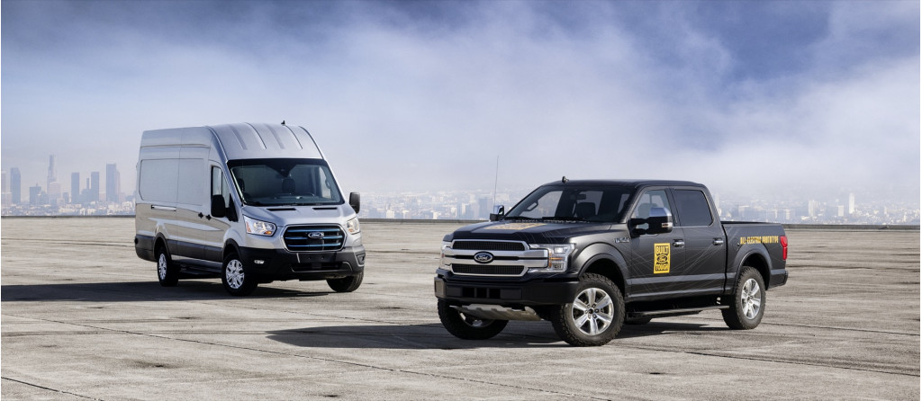 Ford E-Transit and F-150 Electric prototype