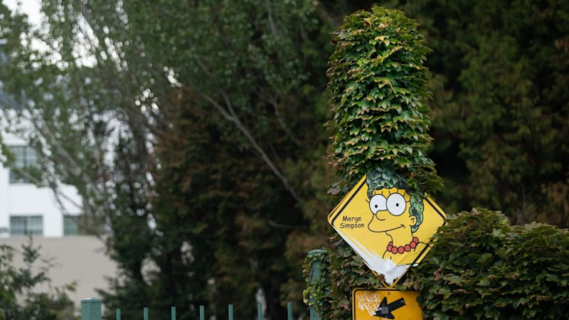 Portland gets a little less weird as it takes down Merge Simpson sign